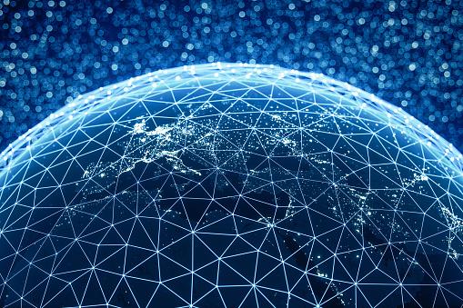 Big Tech「Global Connections (World Map Credits To NASA)」:スマホ壁紙(8)