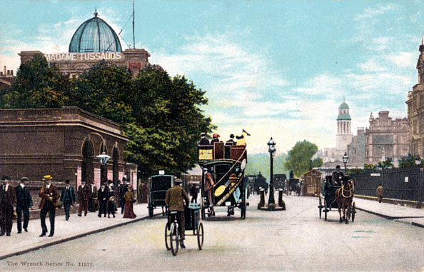 Madame Tussauds「London -  Marylebone Road / Madame Tussauds in background/ with horse drawn  trams and carriages early 1900s.」:写真・画像(16)[壁紙.com]