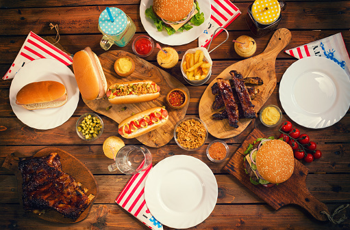 Rib - Food「Picnic Table to Celebrate 4th of July」:スマホ壁紙(10)