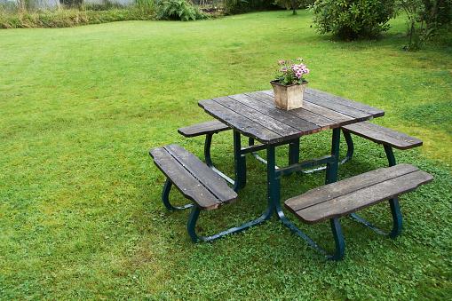 Picnic Table「Picnic Table in Yard」:スマホ壁紙(3)