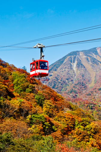 Nikko City「Cable car mountains and forest」:スマホ壁紙(10)