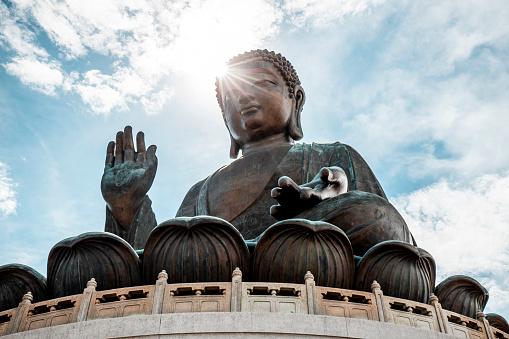 Buddha statue「Hong Kong, Lantau, Ngong Ping, Tian Tan Buddha」:スマホ壁紙(7)