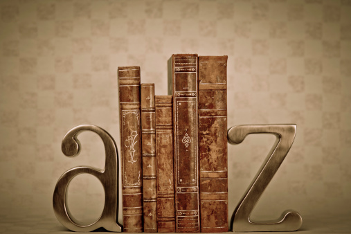 Bookend「A to Z bookends with antique books」:スマホ壁紙(2)
