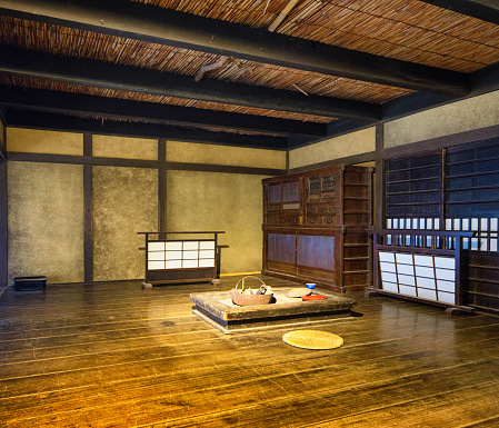 Inn「Japanese Edo village inn meeting dining room movie set at Toei Studios Kyoto」:スマホ壁紙(9)