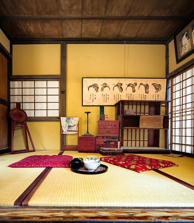 Edo Period「Japanese Edo village hairstylist room movie set at Toei Studios Kyoto」:スマホ壁紙(9)