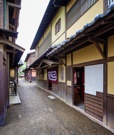 Edo Period「Japanese Edo village narrow street movie set at Toei Studios Kyoto」:スマホ壁紙(4)