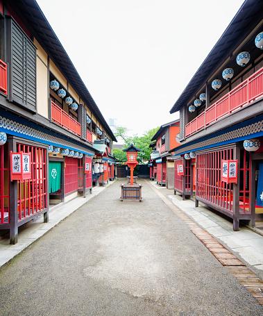 Edo Period「Japanese Edo village festive street movie set at Toei Studios Kyoto」:スマホ壁紙(3)