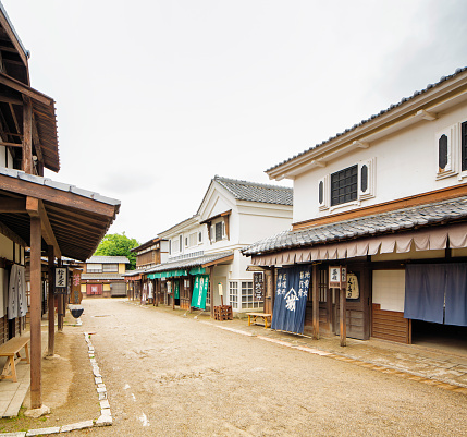 Japanese Language「Japanese Edo village street movie set at Toei Studios Kyoto」:スマホ壁紙(11)