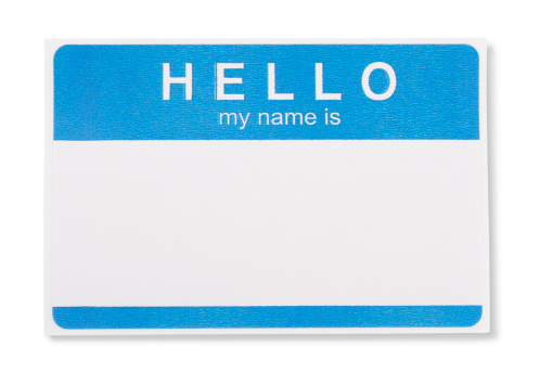 Family Reunion「Hello My Name Is Tag Badge with clipping paths」:スマホ壁紙(6)