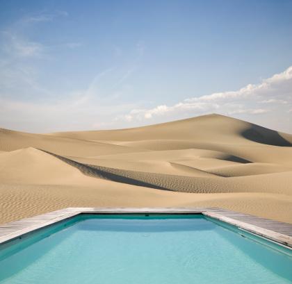 Desert「A refreshing pool amid the dry dunes」:スマホ壁紙(19)