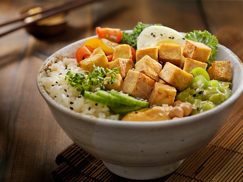 Meat Substitute「Grilled Tofu Buddha Bowl」:スマホ壁紙(17)