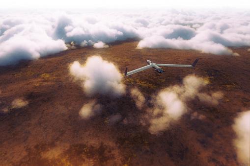 無人航空機「UAV の上の雲のミッション」:スマホ壁紙(12)