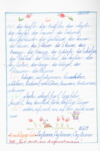英字「Germany, Munich, Child's drawing in exercise book」:スマホ壁紙(4)