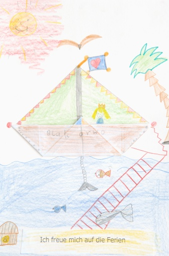 Princess「Germany, Munich, Child's drawing in exercise book」:スマホ壁紙(13)