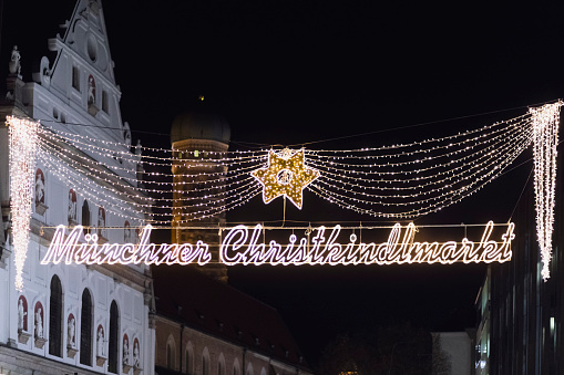 Munich「Germany, Munich, entrance of Christkindlmarkt」:スマホ壁紙(15)