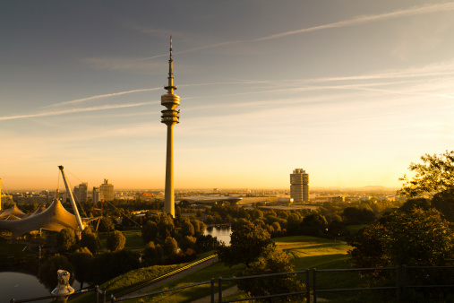 Munich「Germany, Munich, Olympic Tower in morning light」:スマホ壁紙(6)