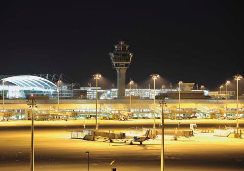 Munich「Germany, Munich, View of munich airport at night」:スマホ壁紙(12)