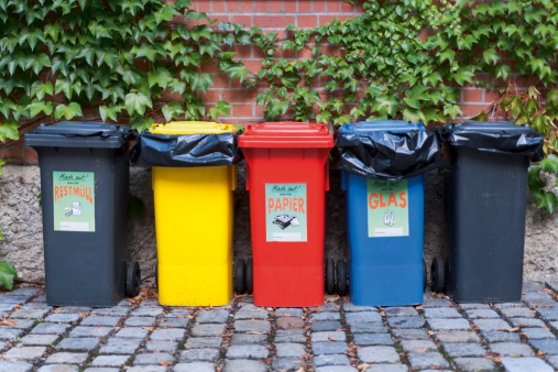 Munich「Germany, Munich, Various garbage containers in yard」:スマホ壁紙(19)