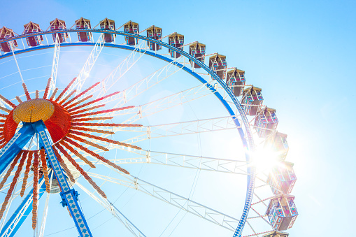 お祭り「Germany, Munich, ferris wheel at the Oktoberfest」:スマホ壁紙(10)