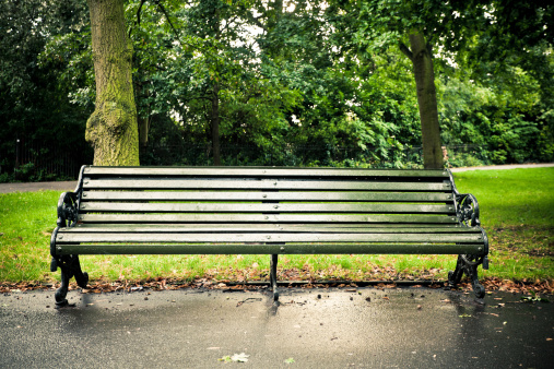 Park Bench「Empty Bench in Regent's Park, London」:スマホ壁紙(8)