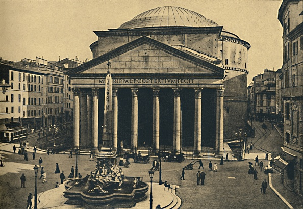 Circa 15th Century「Roma - Pantheon Of Agrippa And Fountain Of The Rotonda 1910」:写真・画像(19)[壁紙.com]