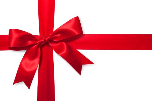 プレゼント「赤いギフトリボン」:スマホ壁紙(4)