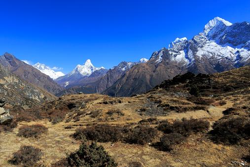 Himalayas「Snow Capped mountains Everest base camp trek」:スマホ壁紙(3)