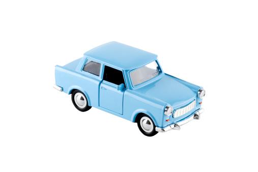 Motor Vehicle「Blue toy car - Trabant, isolated on white」:スマホ壁紙(8)