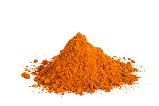 Paprika「heap of paprika or chii powder on white background」:スマホ壁紙(16)