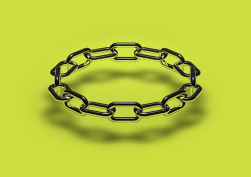 Chain - Object「Metallic chainlinks, close-up」:スマホ壁紙(14)