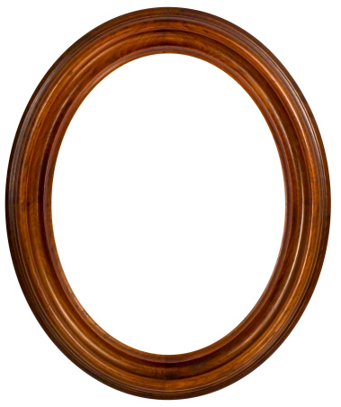 19th Century「Oval Walnut Picture Frame.  Isolated with Clipping Path」:スマホ壁紙(10)