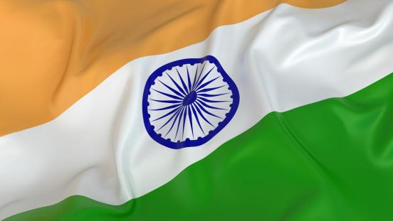 Patriotism「Majestic Glossy Indian Flag」:スマホ壁紙(7)
