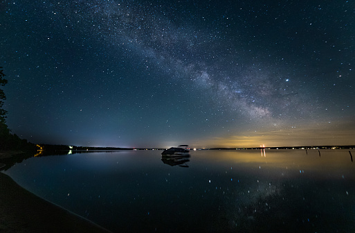 Mast - Sailing「Higgins Lake North State Park Boat Milky Way」:スマホ壁紙(11)