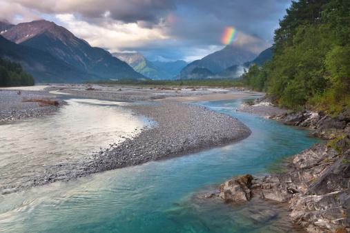 Lech River「Lech river after a thunderstorm in Tyrol, Austria」:スマホ壁紙(11)