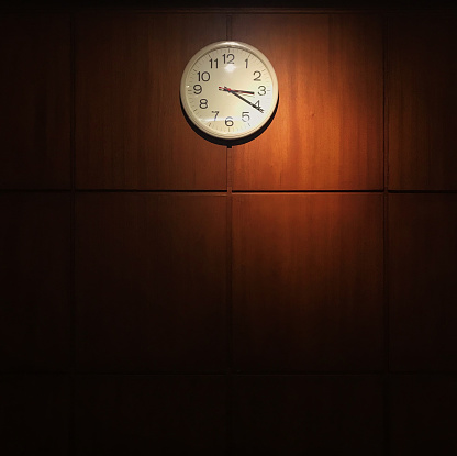 Taken on Mobile Device「Clock hanging on a wall」:スマホ壁紙(18)