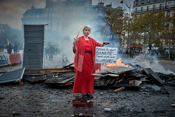 France「First Anniversary Of The First Act Of The Gilet Jaune」:写真・画像(18)[壁紙.com]