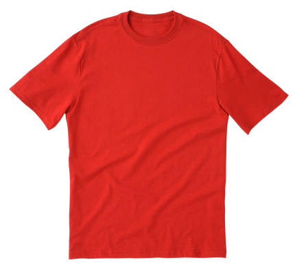 Red「Plain red tee shirt isolated on white background」:スマホ壁紙(2)