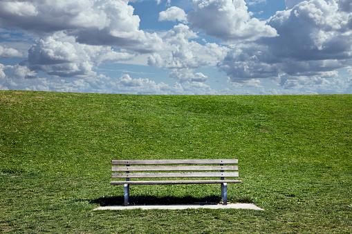 Public Park「Bench in park」:スマホ壁紙(12)