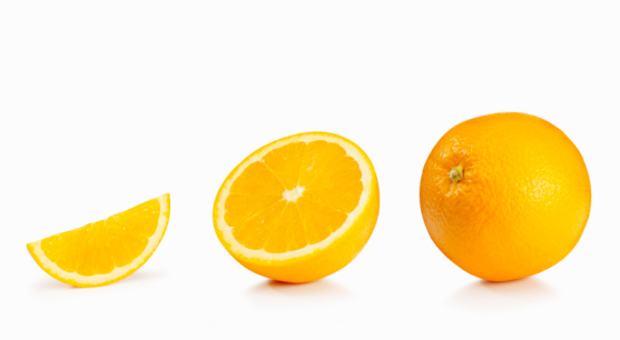 Slice of Food「Orange on white」:スマホ壁紙(12)