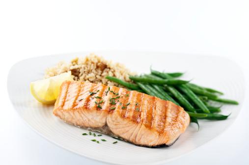 Grilled Salmon「Healthy Salmon Dinner」:スマホ壁紙(5)