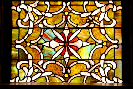 God「Antique stained glass window in sanctuary 」:スマホ壁紙(3)