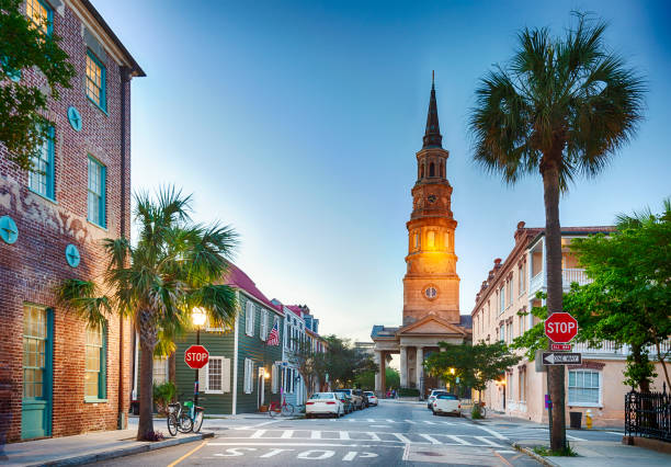 Charleston, South Carolina In The Evening:スマホ壁紙(壁紙.com)