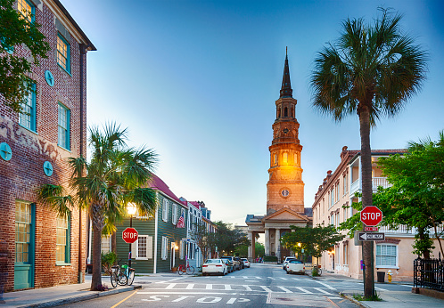 Charleston - South Carolina「Charleston, South Carolina In The Evening」:スマホ壁紙(2)