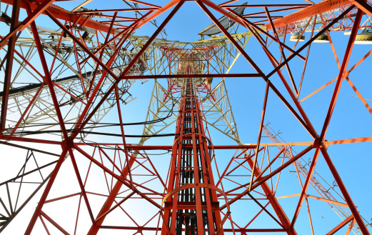 Antenna - Aerial「Telecommunication tower against the blue sky」:スマホ壁紙(12)