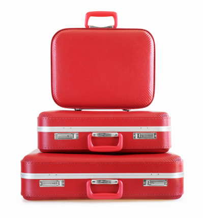 Luggage「Stack of Red Suitcases」:スマホ壁紙(19)