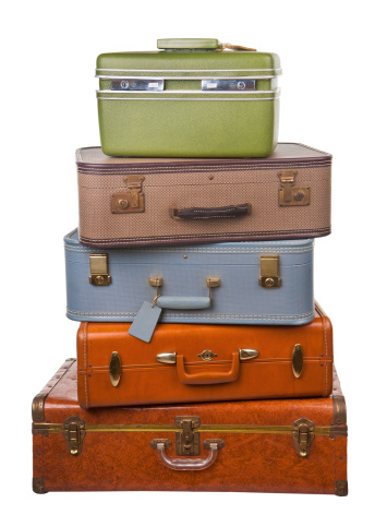 Suitcase「stack of retro luggage」:スマホ壁紙(14)