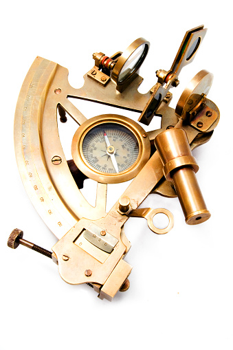 Latitude「A sextant isolated on white background」:スマホ壁紙(17)