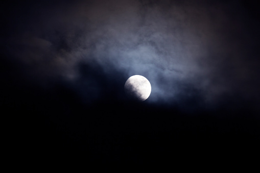 Pacific Northwest「View of moon at night.」:スマホ壁紙(4)