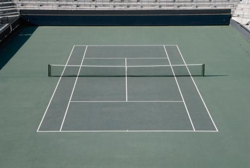 テニス「Tennis court, elevated view」:スマホ壁紙(8)