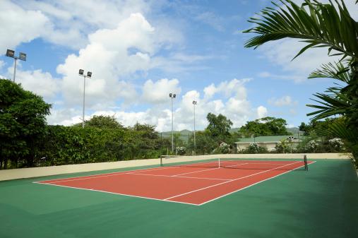 テニス「テニスコート」:スマホ壁紙(2)